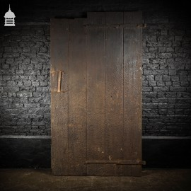 Large Ledged and Braced Barn Door with Strap Hinges and Bitumen Finish