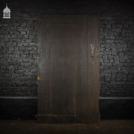 Large Ledged and Braced Barn Door with Bitumen Finish and Strap Hinges