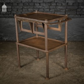 19th C Cast Iron Industrial Workshop Shelves