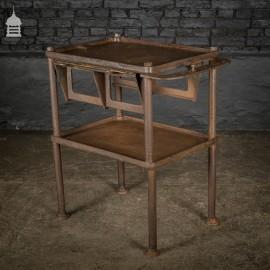 19th C Cast Iron Industrial Workshop Shelves