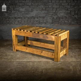 Rustic Industrial Base Made By Us from Reclaimed Pine