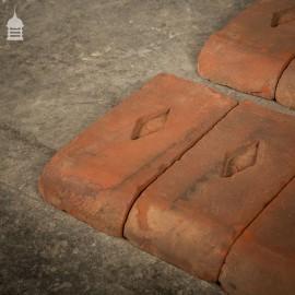 Batch of 10 Red Bullnose Header Special Bricks