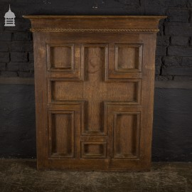 19th C Carved Oak Moulded Panel with Rope Twist Detail