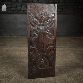 18th C Decorative Carved Oak Panel