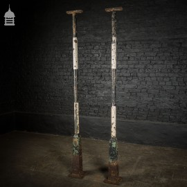 Pair of Tall 19th C Cast Iron Columns Pillars Stanchions