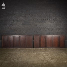 Set of 4 Lengths of 19th C Oak Panels Panelling