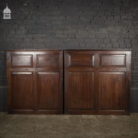 Two Pieces of 19th C Raised and Fielded Oak Panels Panelling