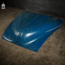 Vintage Blue Morris Minor 1000 Bonnet with Distressed Paint