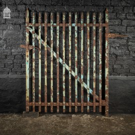 19th C Spike Top Wrought Iron Single Garden Gate
