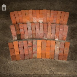 Batch of 24 Mixed Reclaimed Red Brick Window Header Arches