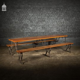 Pair of Metamorphic Benches Pews Converts into Banquet Table
