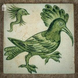 19th C Original Early William De Morgan Arts and Crafts Tile of Mystical Creature