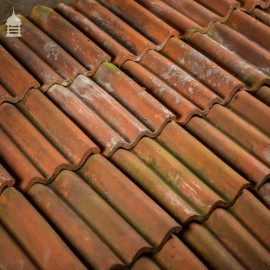Reclaimed Red Clay Corrugated Roof Tiles