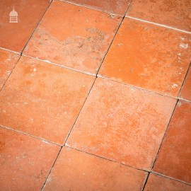 """Batch of 290 Reclaimed Red 9"""" x 9"""" Quarry Tiles - 19 Square Metres"""