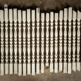Batch of 30 19th C White Painted Bainster Spindles