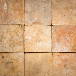 """Batch of 206 Reclaimed Buff 12"""" x 12"""" Fireclay Pamments - 19 Square Metres"""