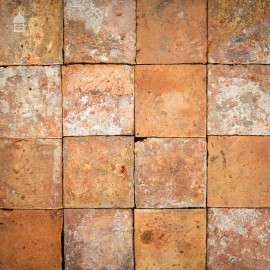 """Batch of 72 Reclaimed 9"""" x 9"""" Peach & Buff Pamments - 3.5 Square Metres"""
