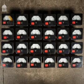 Set of 23 Vintage Industrial Electrical Gauges Dials