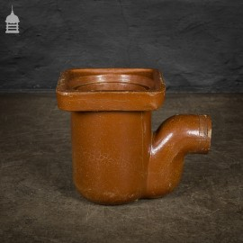 Large Brown Salt Glazed Drainage Component Planter