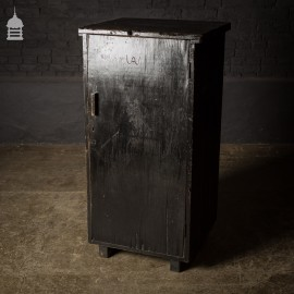 Black Painted 20th C Industrial Cupboard