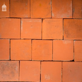 "Batch of 270 Reclaimed 7.75"" x 7.75"" Red Quarry Tiles - 11 Square Metres"