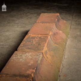 Batch of 24 Reclaimed Large Sloped Red Plinth Bricks