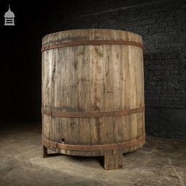 Large Victorian French Oak Wine Making Vat