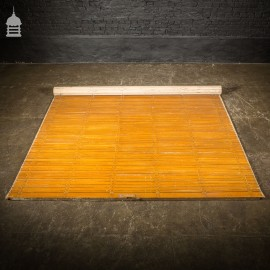 19th C Pitch Pine Roller Shutter with Grained Finish by Haskins of London