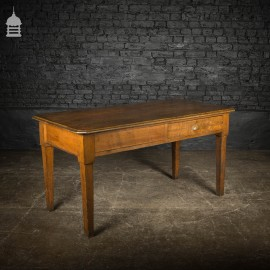 1920's Solid Oak Office Table with Single Drawer