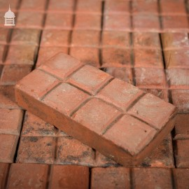 Batch of 336 Rare 8 Block Red Stable Floor Bricks 9.5 SqMs