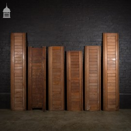 19th C Pitch Pine Pew Backs in Various Sizes
