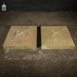 Pair of 19th C Rectangular Sandstone Pier Caps