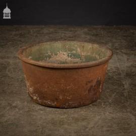 """19th C 16"""" Cast Iron Copper Cauldron"""