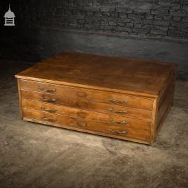 Edwardian Oak 4 Drawer Plans Chest Cabinet
