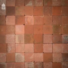 "Batch of 260 Grade B 4.25"" x 4.25"" Red Quarry Tiles - 2.5 Square Metres"