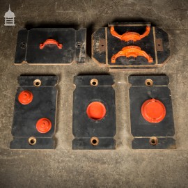 Batch of 5 Pieces of Black and Red Foundry Moulds Patterns