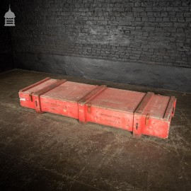 Large Red Wooden Aircraft Part Shipping Crate Reclaimed from a Norfolk RAF Base