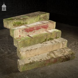 Set of 16 19th C Sandstone Spiral Staircase Steps Treads