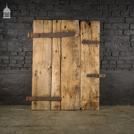 Rustic Ledged and Braced Pine Barn Door with Original Hinges