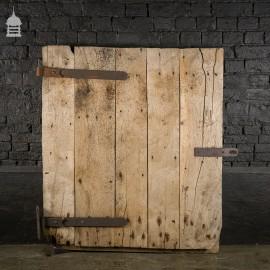 Reclaimed Antique Elm Ledged Barn Door with Original Hinges