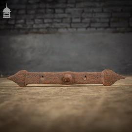 Small Blacksmith Made Wrought Iron Wall Tie Building Tie