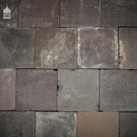 "Batch of 125 Reclaimed Blue 9"" x 9"" Quarry Tiles"