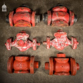 Batch of 6 Large Red Industrial Foundry Moulds