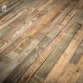 Batch 35 Square Metres of Silvered Rustic Oak Floorboards Wall Cladding