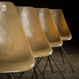 Set of Four Mid Century Resin Dining Chairs
