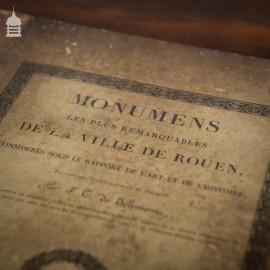 Rare Original Par F.T. De Jolimont Book of 'Most Remarkable Monuments Of The City Of Rouen' 1823