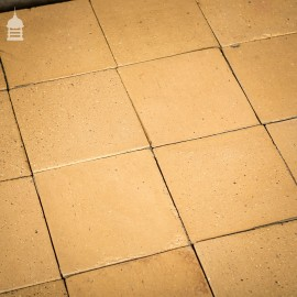 Batch of 80 Reclaimed 9 inch x 9 inch Buff Quarry Tiles Floor Tiles – 4 Square Metres