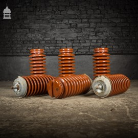 Batch of Six Ceramic Electricity Pylon Insulators