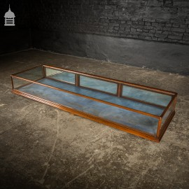 19th C Mahogany Desktop Glass Jewellery Display Cabinet Case with Mirrored Back