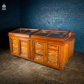 19th C Mahogany Table Top Museum Display Cabinet
